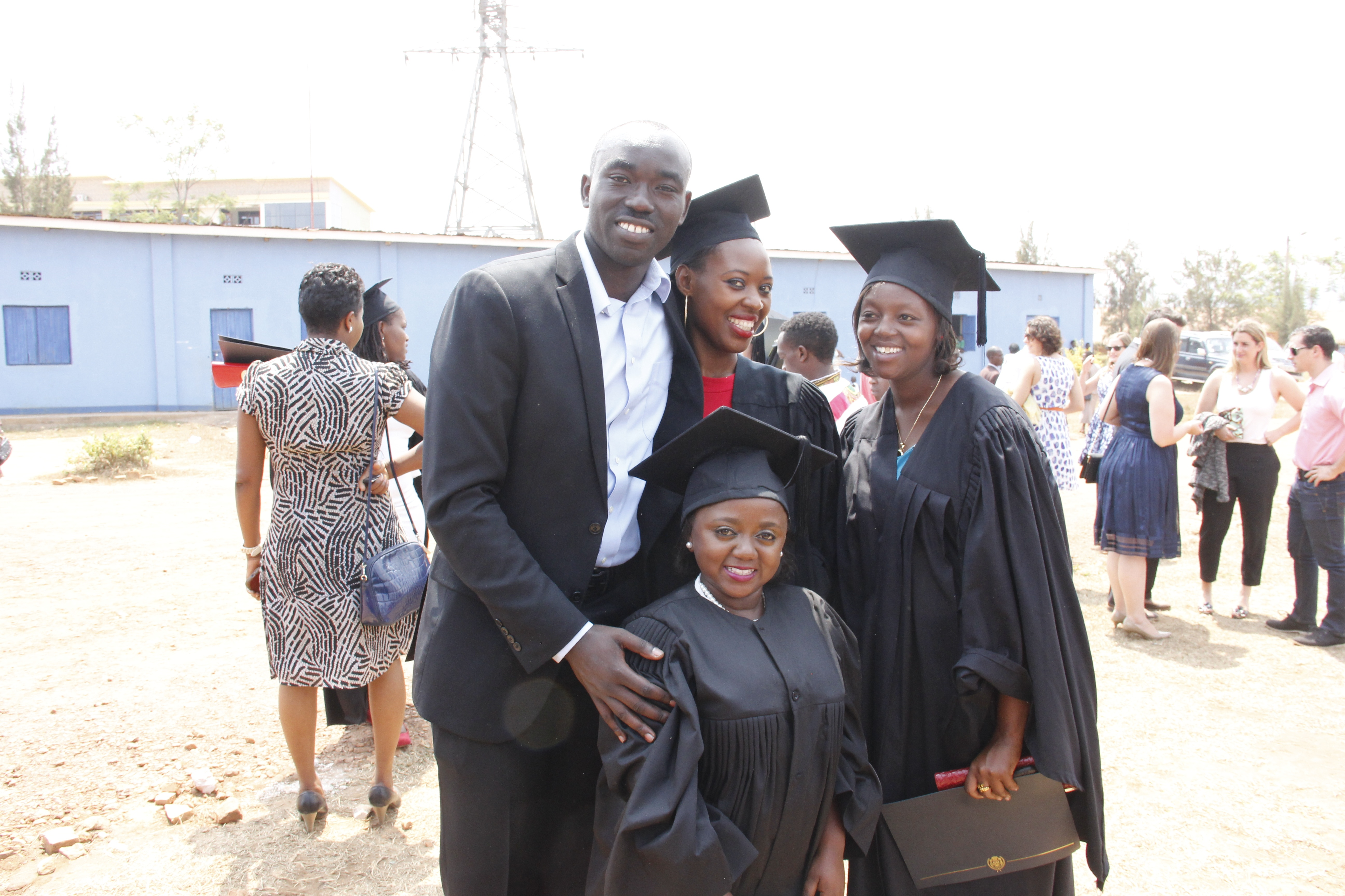Claver with Akilah Grads