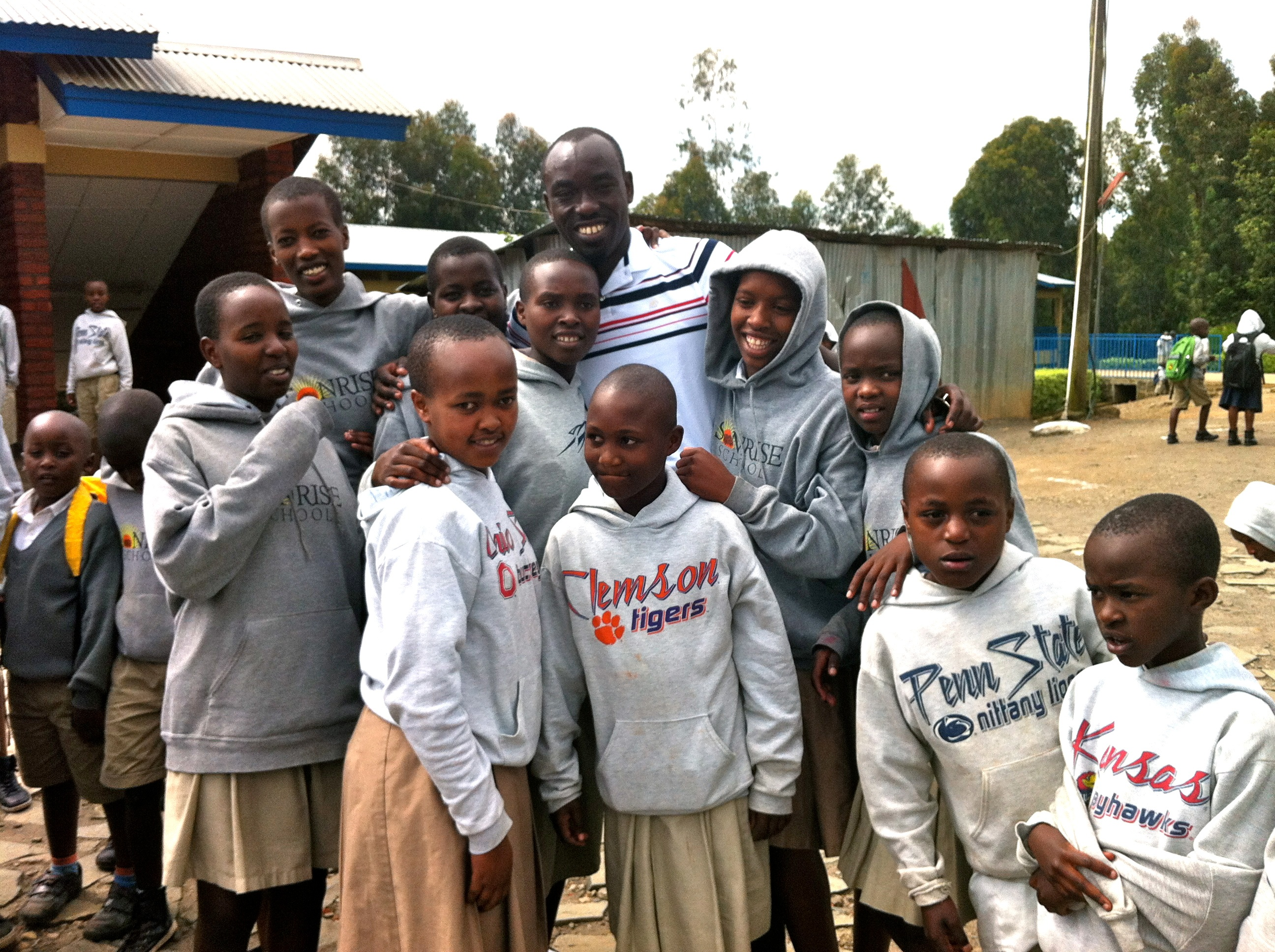 Claver with Sonrise Students